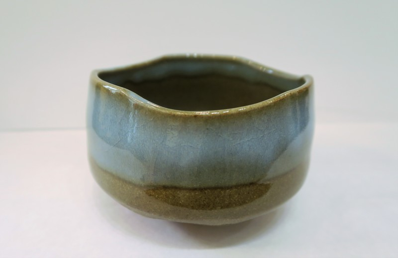 Bol à matcha cérémonie du thé brun gris  - comptoir du Japon - Voir en grand