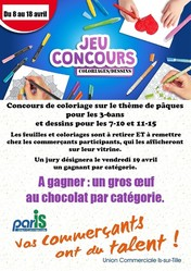 Concours de coloriages et dessins - Les événements et animations - Union Commerciale Par'IS - Voir en grand