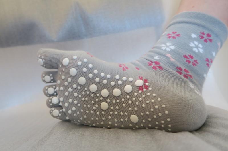 Chaussettes japonaises massage 5 orteils - Comptoir du Japon - Voir en grand