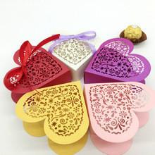 Boîte Ajourée 'Coeur' avec Rubans - Boîtes à  Dragées - La Grèce Gourmande - Voir en grand