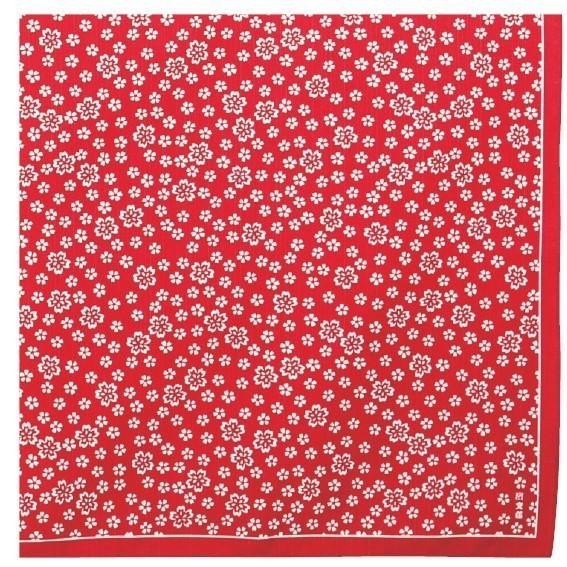 Furoshiki 90cm sakura rouge - Comptoir du Japon - Voir en grand