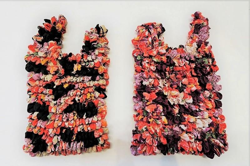 """Eco bag ou sac d'appoint """"magique"""" shibori, motifs japonais - Comptoir du Japon - Voir en grand"""