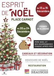 Le marché de Noël Place Carnot à Beaune