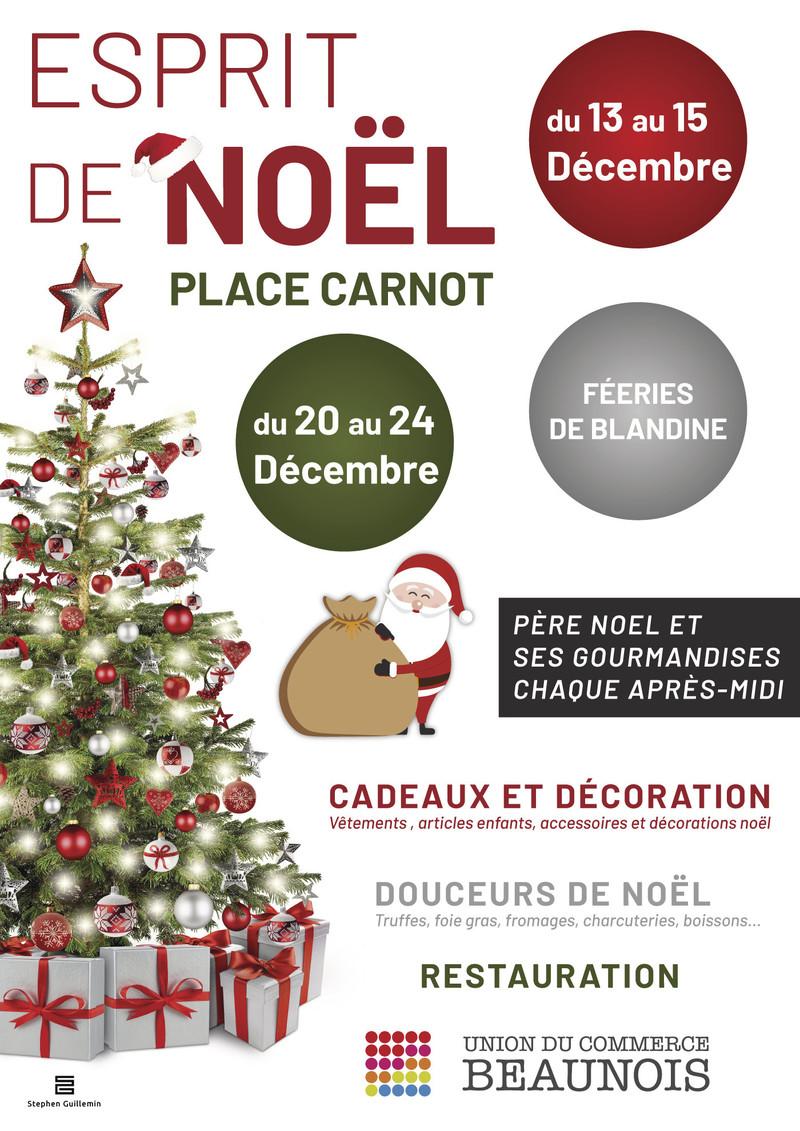 Le marché de Noël Place Carnot à Beaune - Voir en grand