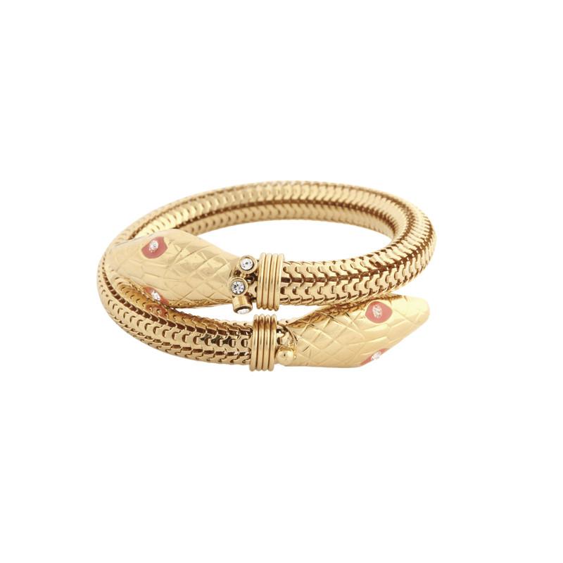 Bracelet cobra or - Voir en grand