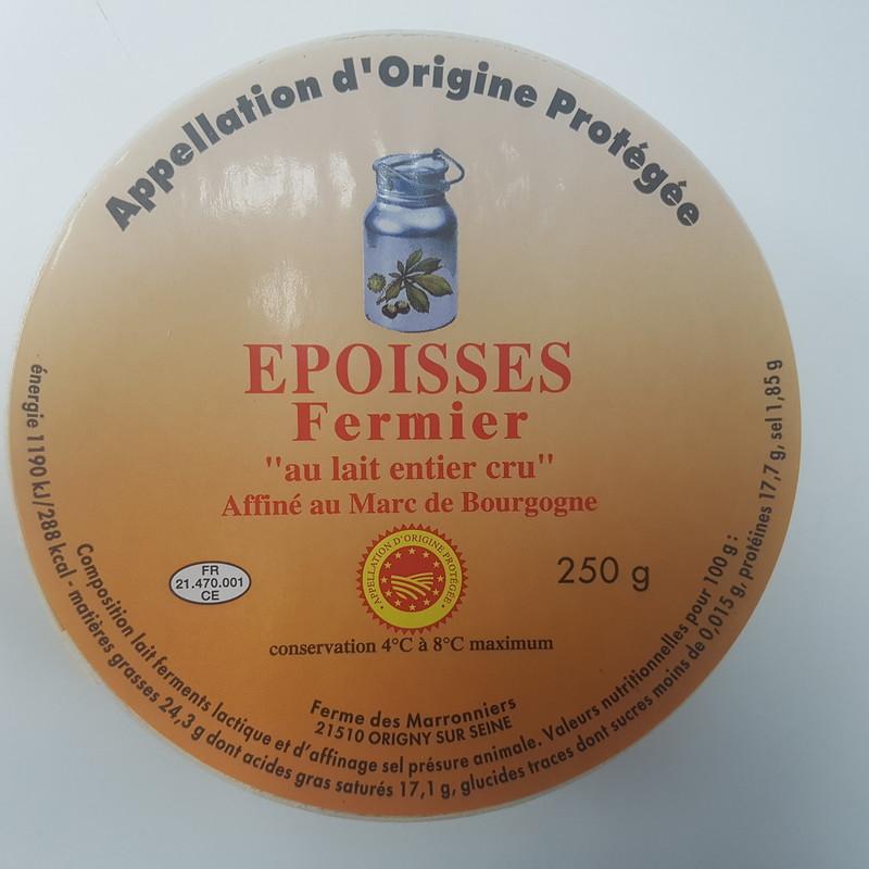 Epoisses Fermier au lait cru 250gr - PRODUITS LOCAUX - LEPY  - Voir en grand