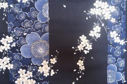 Yukata court bleu Sakura - Comptoir du Japon - Voir en grand
