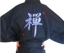 Yukata Zen noir - Voir en grand