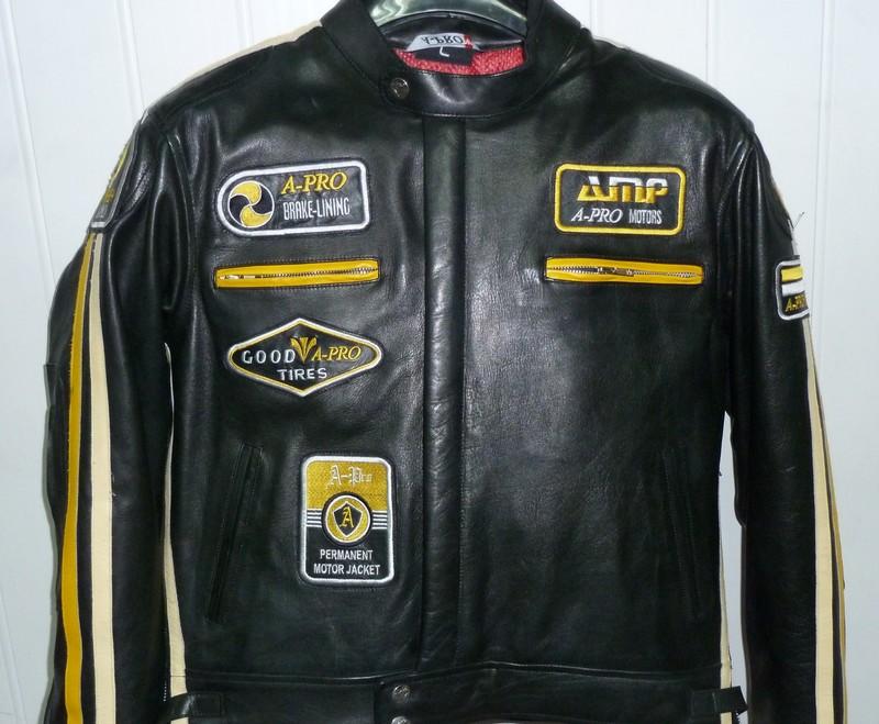 Blouson cuir vintage A.PRO ANGEL'S MOTOS DIJON CHENOVE - Voir en grand