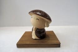 """Porte-bonheur Petit Jizô """"merci"""" fabriqué au Japon - Comptoir du Japon"""