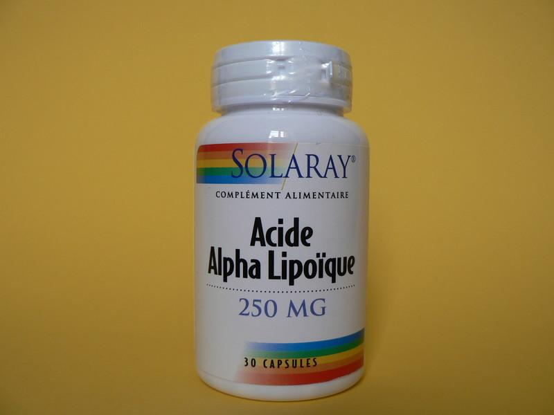 ACIDE ALPHA LIPOIQUE 250MG SOLARAY - DRAINAGE - MISS TERRE VERTE - Voir en grand