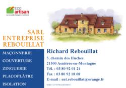SARL ENTREPRISE REBOUILLAT Maçonnerie Couverure Isolation - Bricolage et artisans - UCAM : Union Commerciale de Montbard