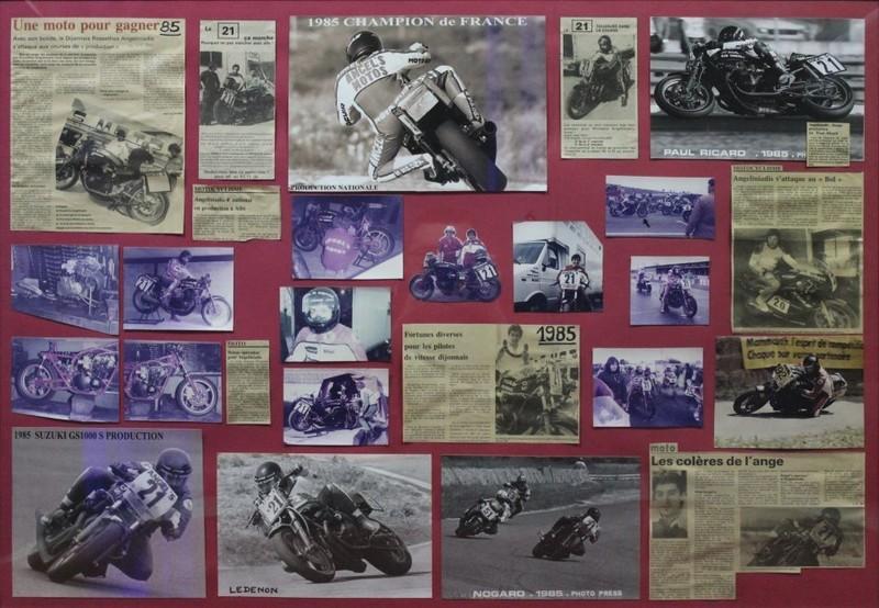 TITRE de Champion de France en 1000 production sur Suzuki 1000 GS en 1985  - Voir en grand