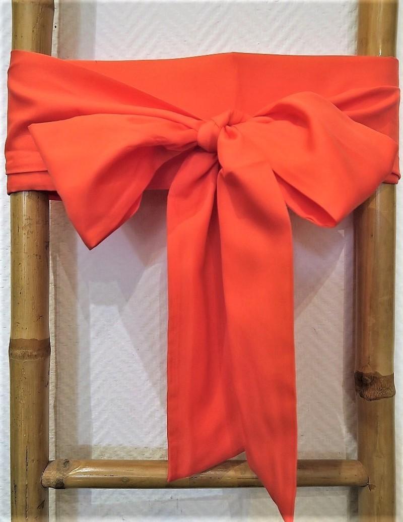 Ceinture obi unie pour kimono japonais ou veste haori - Comptoir du Japon - Voir en grand