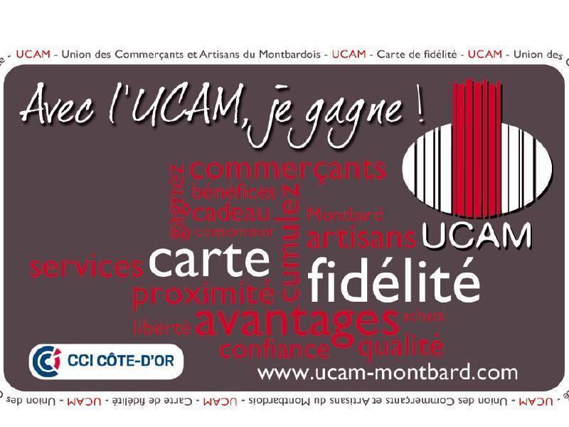 LA CARTE FIDELITE UCAM Montbard - Animations de l'UCAM  - UCAM : Union Commerciale de Montbard - Voir en grand