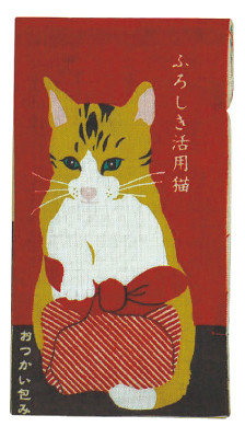"""Livre en tenugui """"Chat et furoshiki"""" - Comptoir du Japon - Voir en grand"""