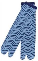 bleu vague - Chaussettes japonaises tabi pour homme - Voir en grand