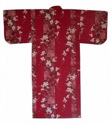 Yukata Fleurs de cerisier rouge - Voir en grand