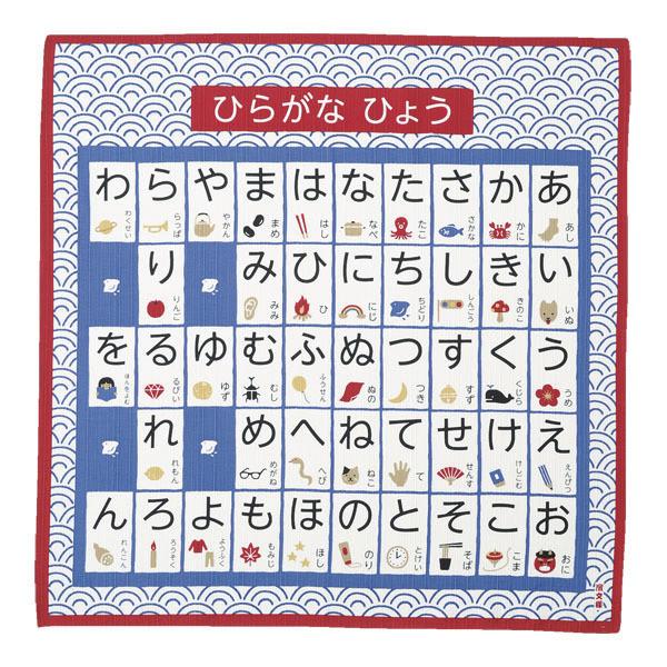 Furoshiki 50 cm Alphabet japonais hiragana - Comptoir du Japon - Voir en grand