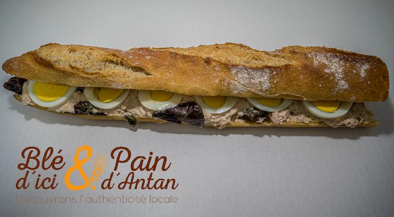 Sandwich THON/OEUF/MAYONNAISE - SNACKING - BLÉ D'ICI ET PAIN D'ANTAN - Boulangerie - Voir en grand