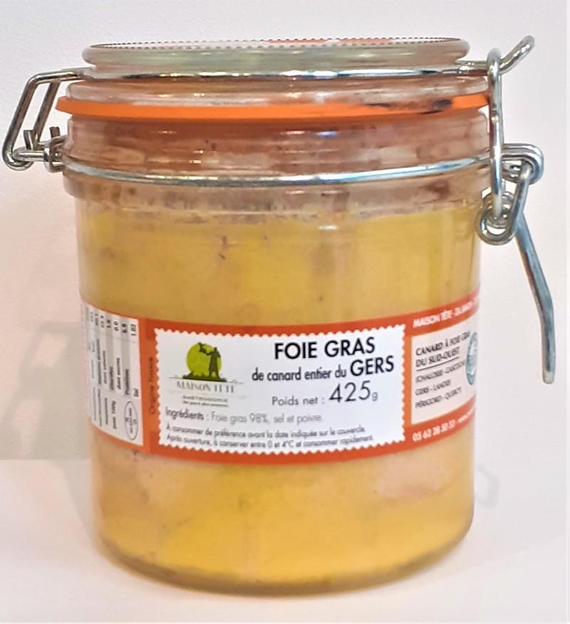Foie Gras de Canard Entier  du Gers 425 Grs  - FOIES GRAS - LA CAVE GOURMANDE - Voir en grand
