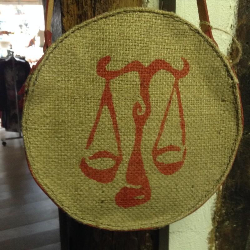 sac rond jute et cuir - Sacs toile de jute - Boutique Apparence - Voir en grand