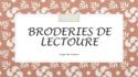 BRODERIES DE LECTOURE