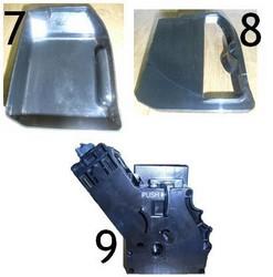 7: Bac à aux usées 8: couvercle bac à eau usées 9: Groupe café machine à café Priméa Saeco - Voir en grand
