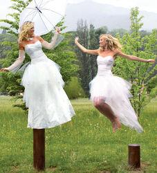 Robe de mariée Grenoble modulable Constellation  - Robes de mariée long et court en même temps - Création Signé Edith  - Voir en grand