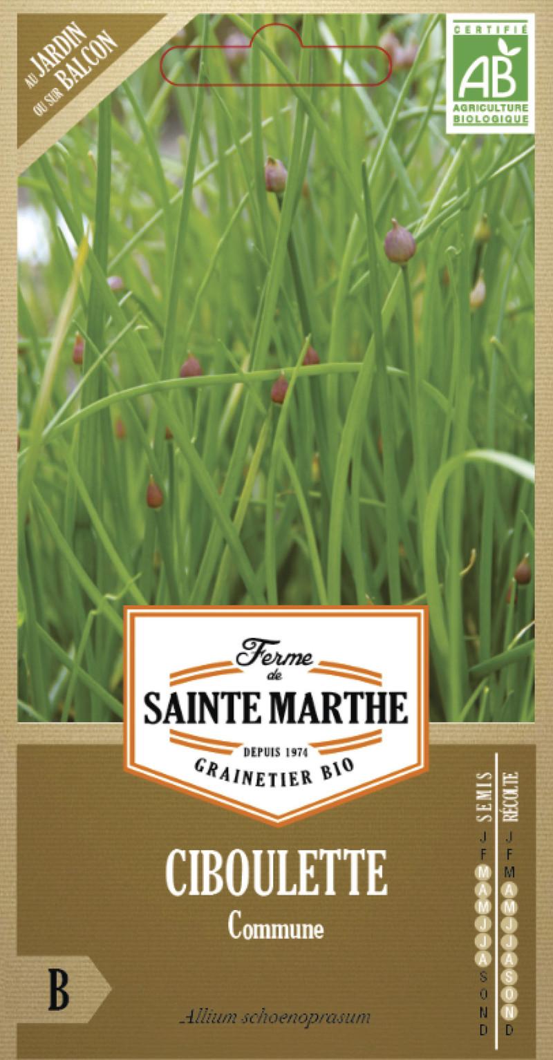 ciboulette commune bio la ferme de sainte marthe graine semence aromatique sachet semis - Voir en grand