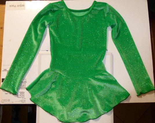 Tunique de Patinage sur Glace Elite Xpression Ref 46TE10 - ARTISTIQUE - GREEN et GLACE Patinage et sportwear - Voir en grand