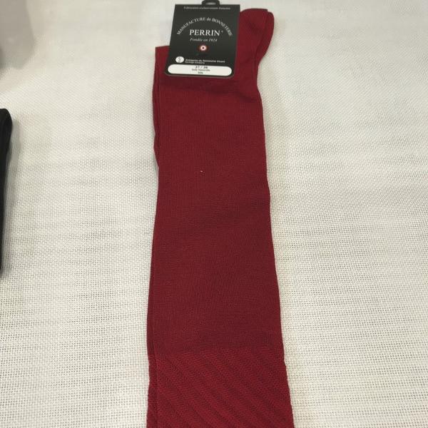 """Chaussettes femme hautes et légère en soie naturelle - Chaussettes hautes - Mercerie """"Au Petit Lyon"""" - Voir en grand"""