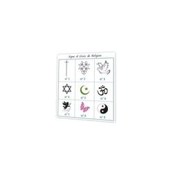 Croix religion, tradition gris, carte remerciement deuil, condoleance, Print amalgame grenoble