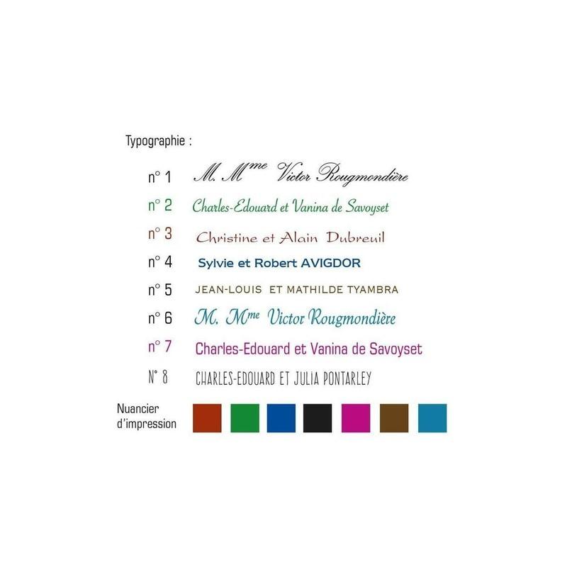 Carte De Visite Ecriture En 2 Typos Papier Blanc Imprimeur Graveur Grenoble