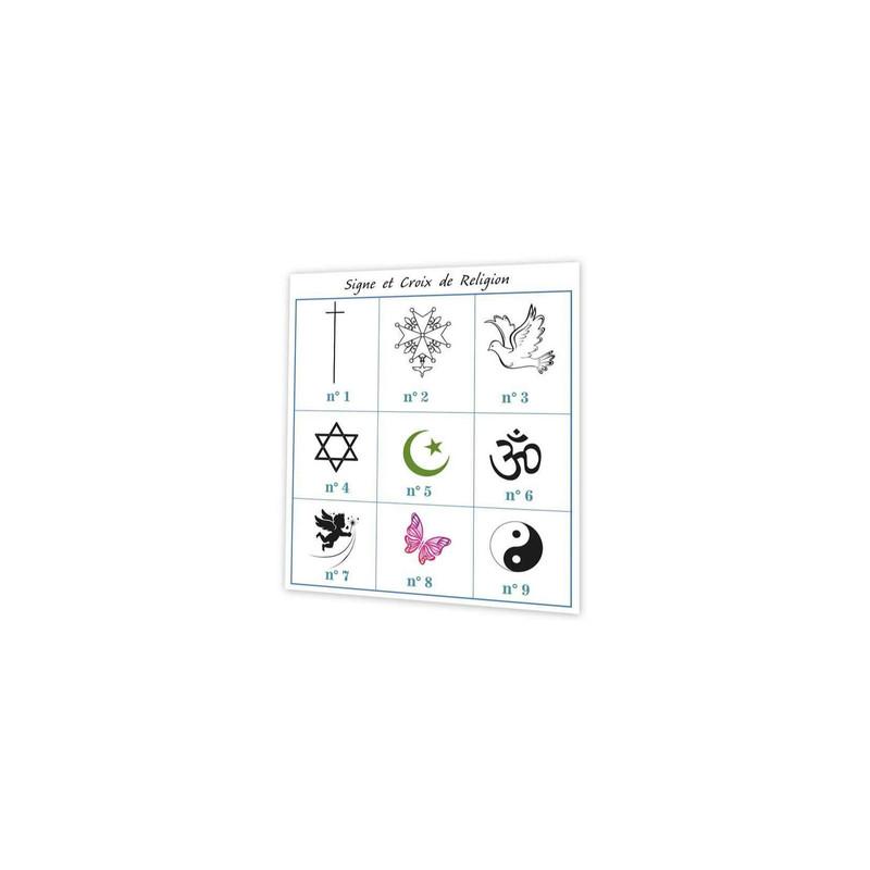Croix religion, tradition gris, carte remerciement deuil, condoleance, Print amalgame grenoble - Voir en grand