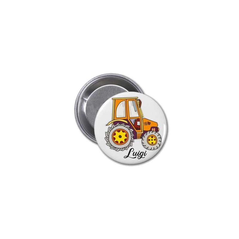 Tracteur en magnet rond  pour frigo, tableau aimanté, Amalgame à grenoble - Voir en grand