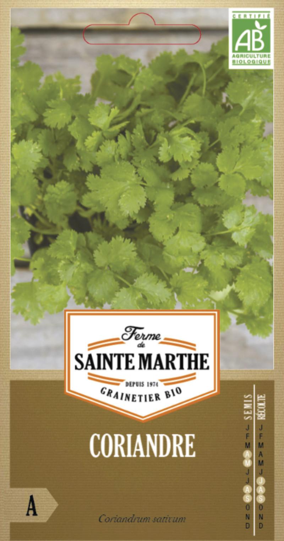 coriandre bio la ferme de sainte marthe graine semence aromatique sachet semis - Voir en grand