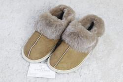 """Chaussons """"Quebec"""" en mouton retourné - Chaussons-pantoufles en peau et laine - La Petite Boutique"""