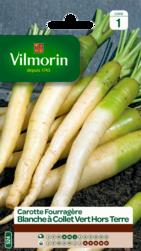 carotte fourragere blanche a collet vert hors terre vilmorin graine semence fourragere sachet semis