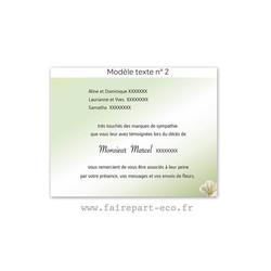 Modèle de texte N°2 pour personnaliser carte décès, amalgame imprimerie grenoble