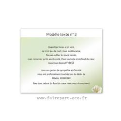 Modèle de texte N°3 pour personnaliser carte décès, amalgame imprimerie grenoble