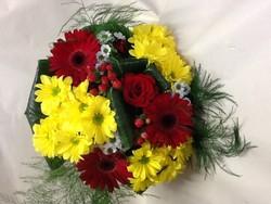 Bouquet rond coloré  - Voir en grand