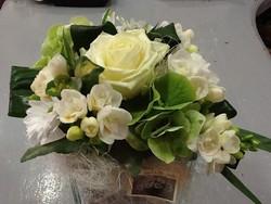 Bouquet blanc vert - Voir en grand