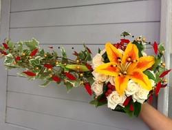 Bouquet de marié stylisé - Voir en grand