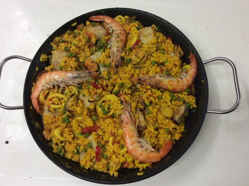 Paella  - PLATS ESPAGNOLS MAISON - LA COCINA, Saveurs d'Espagne - Voir en grand