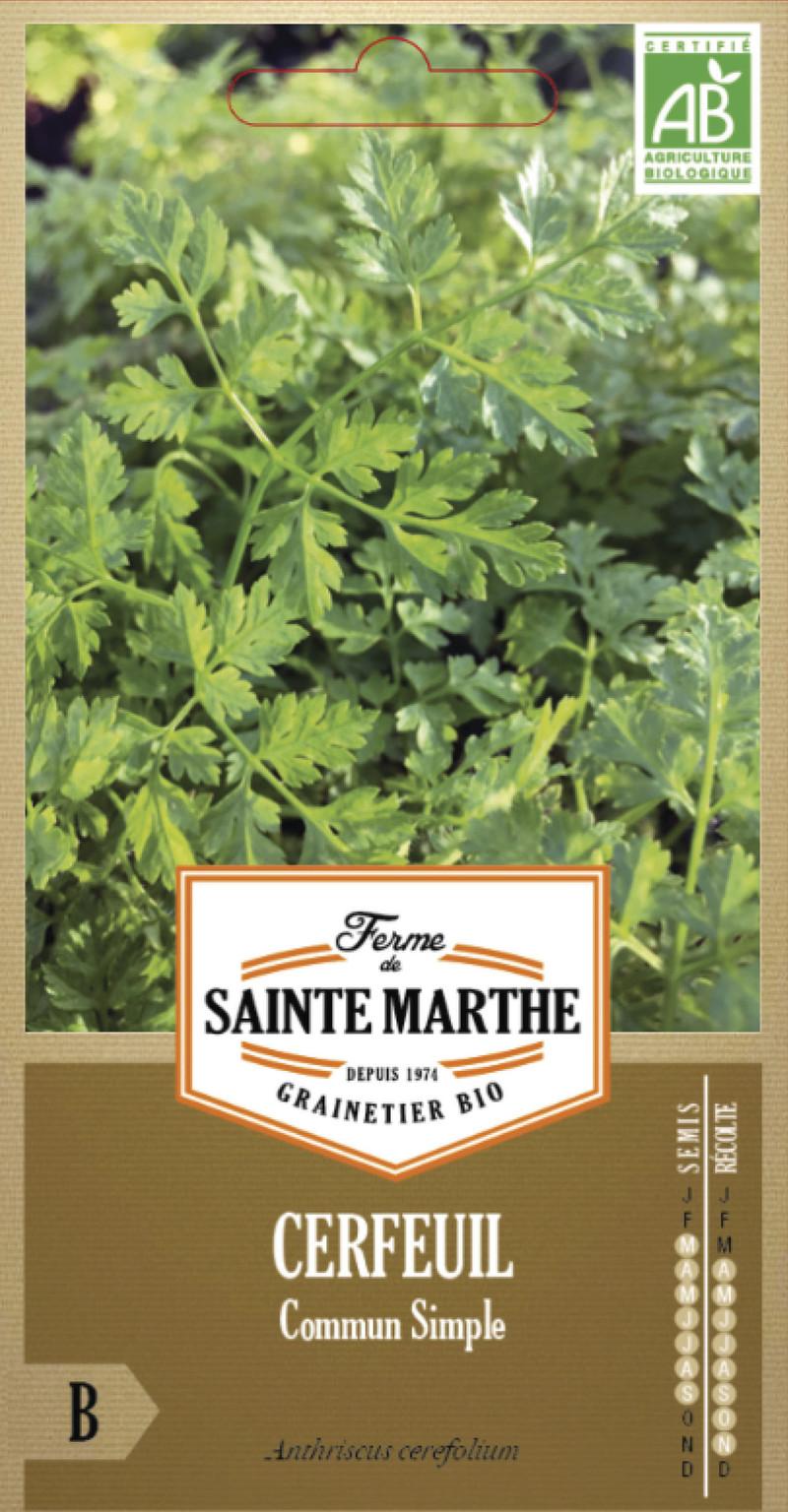 cerfeuil commun simple bio la ferme de sainte marthe graine semence aromatique sachet semis - Voir en grand