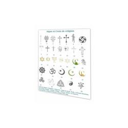 croix de religion, signes religieux, symbole et croyance, Grenoble, France - Voir en grand