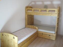 lit gigogne et lit superposé gain de place - lit superposés et bois de lit - VERCORS LITERIE  - Voir en grand