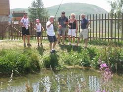 l'été, la pêche au restaurant de l'altiport - Les plus du restaurant de l'altiport - Restaurant de l'altiport - Voir en grand