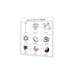 Croix de religion, symbole et croyance, bouquet de lavande, amalgame grenoble - Voir en grand